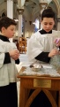 Altar Servers at the credence table